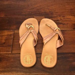 Lilly Pulitzer mckim sandals 8.5 rose gold